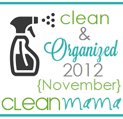 Clean + Organized 2012 – FREE November Cleaning Schedule