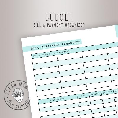 BILL & PAYMENT ORGANIZER
