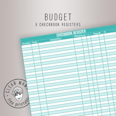 1000 ideas about checkbook register on pinterest check register budget binder and budget. Black Bedroom Furniture Sets. Home Design Ideas