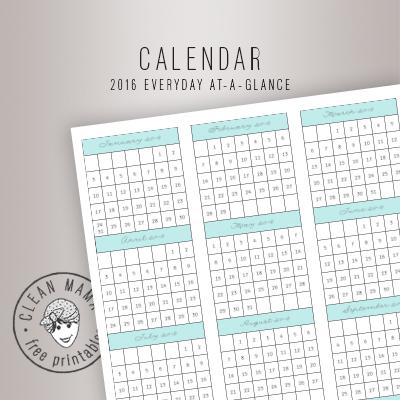 CALENDAR. 2016 EVERYDAY AT-A-GLANCE