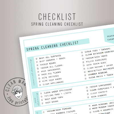Spring Clean Checklist  Clean Mama
