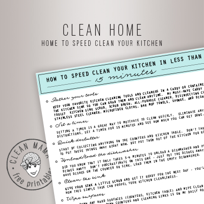 CLEAN HOME.HOME TO SPEED CLEAN YOUR KITCHEN