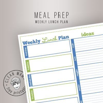 MEAL PREP. WEEKLY LUNCH PLAN