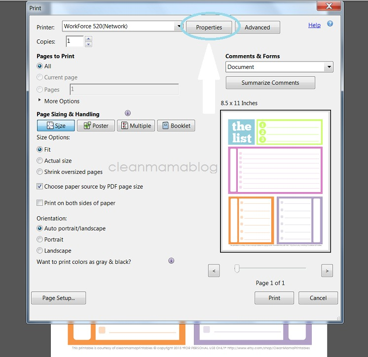 image relating to Free Printable 5.5x8.5 Planner Pages named How Do Your self Re-Dimensions Printables? Fresh Mama