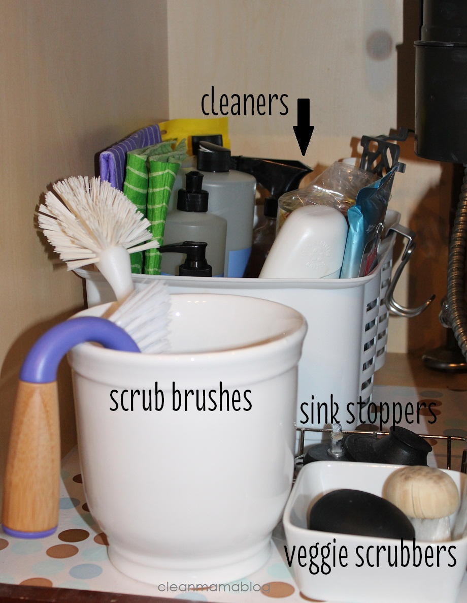 kitchen organization - under the kitchen sink - clean mama