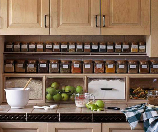 kitchen month spice storage clean
