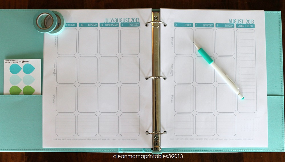 2 Page Planner Layout - Clean Mama
