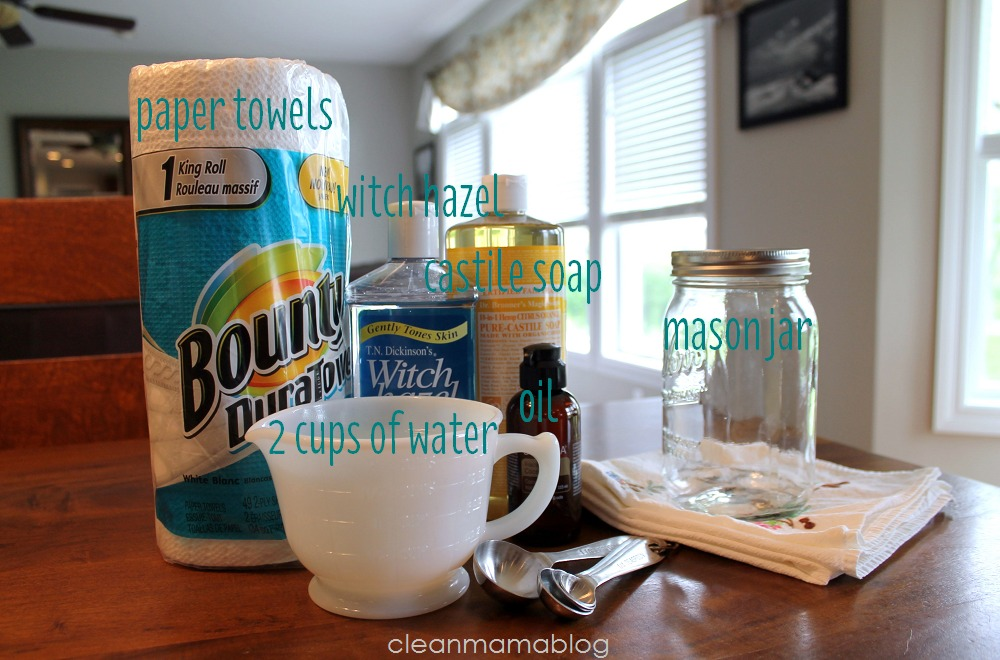 DIY Mason Jar Wipes Ingredients - Clean Mama