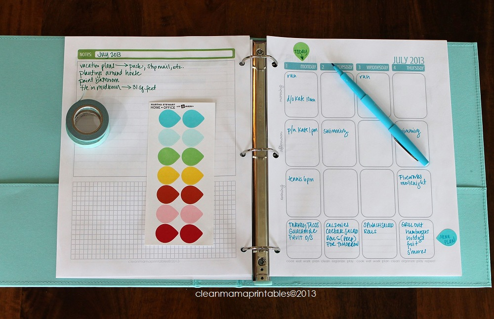 Planner + Notes Layout - Clean Mama
