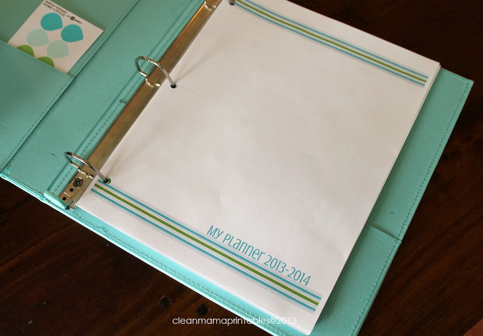 Planner Cover 2 - Clean Mama