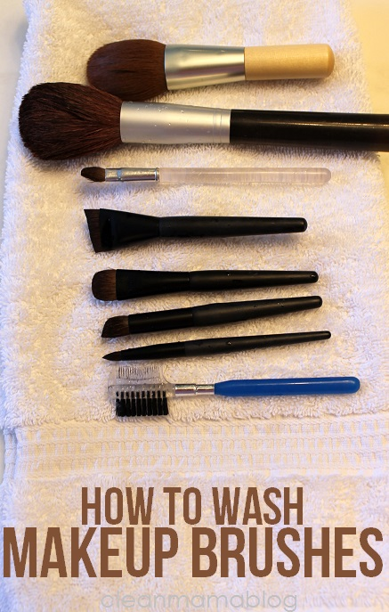 How to Wash Makeup Brushes - Clean Mama