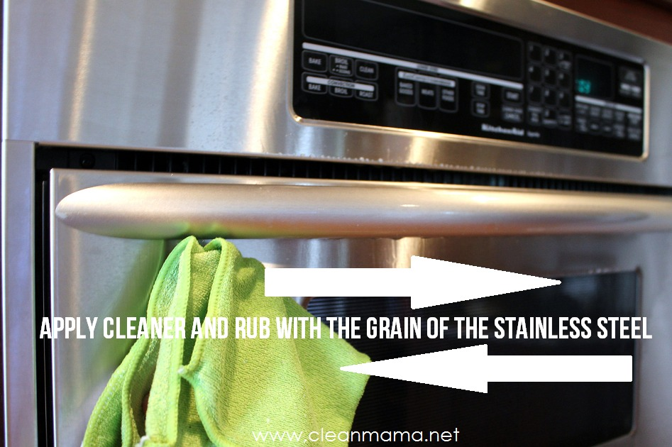 good Best Stainless Steel Cleaner For Kitchen Appliances #3: apply cleaner and rub with the grain of the stainless steel - clean amam