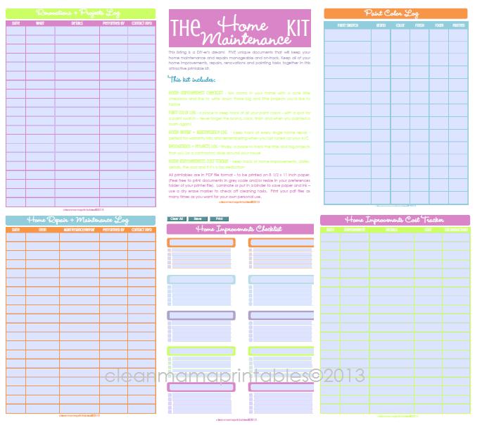 Editable Calendar Html Code : Shop update editable kits calendars clean mama