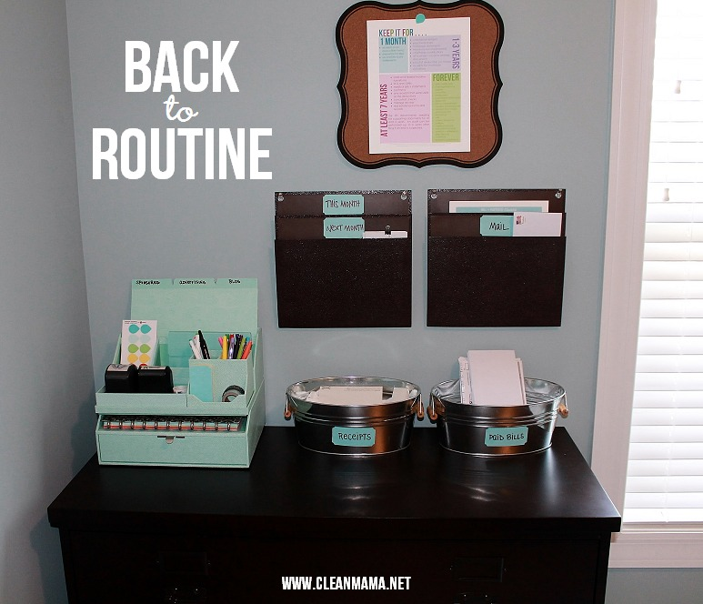 Back to Routine - Clean Mama