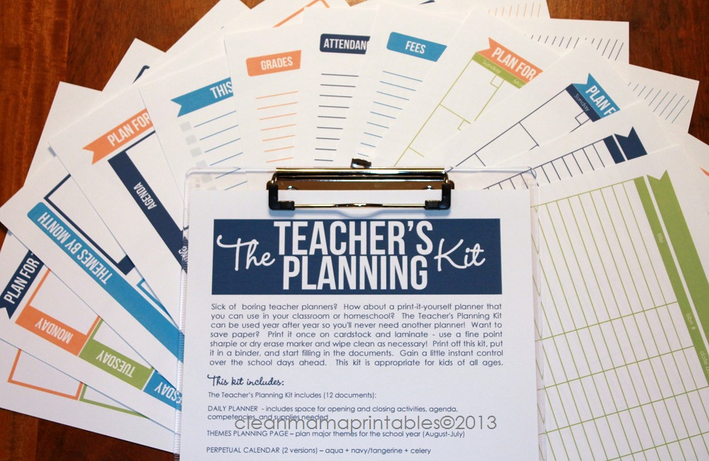 The Teacher's Planning Kit - Clean Mama Printables