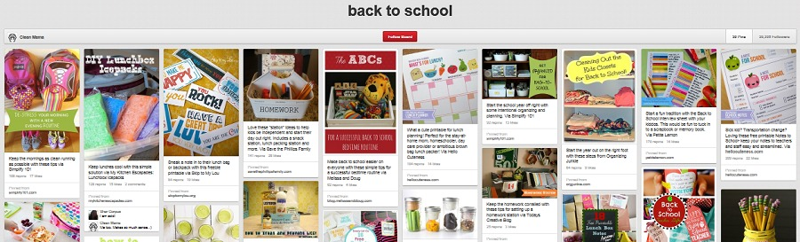 back to school pinterest - clean mama