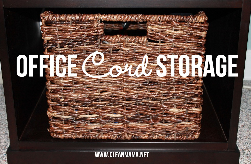 Office Cord Storage via Clean Mama