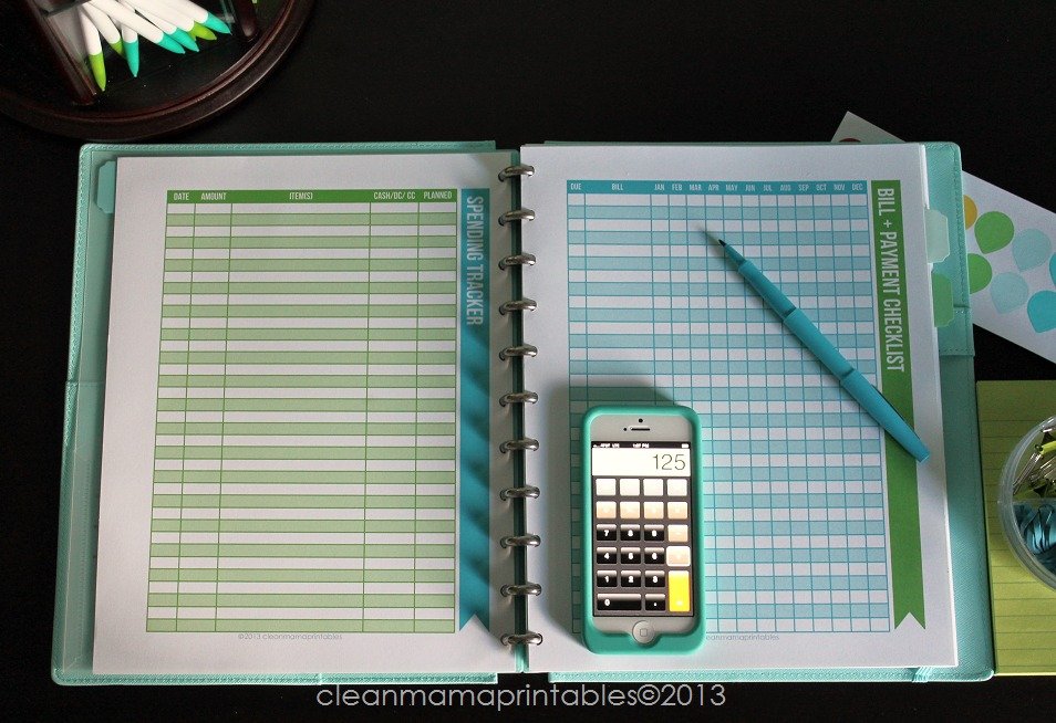 Spending Tracker + Bill Paying Checklist - Simplified Life Kit - Clean Mama