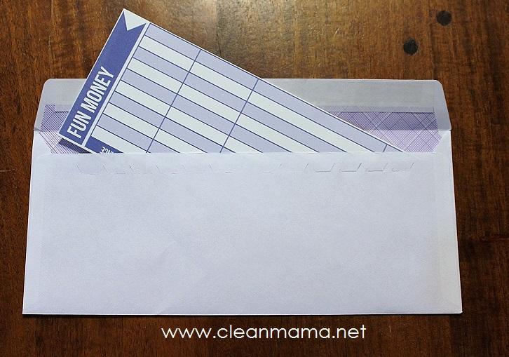 Budget Envelopes via Clean Mama2