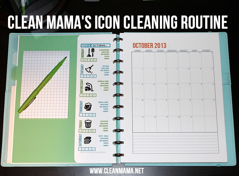 Clean Mama's Cleaning Routine Printable via Clean Mama