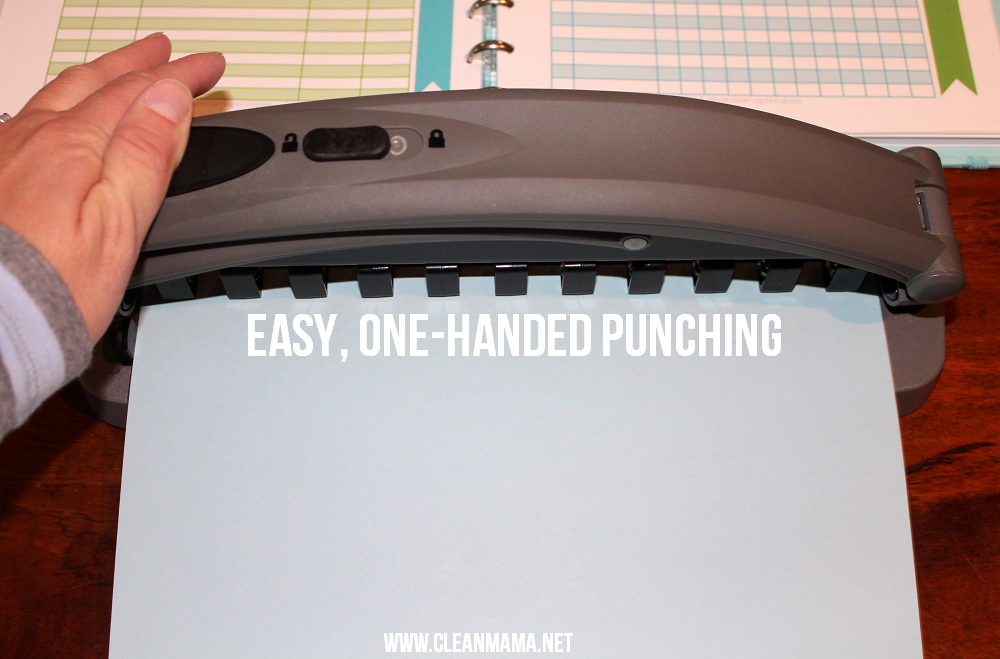 Easy, One-Handed Punching - Clean Mama