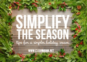 Simplify the Season via Clean Mama
