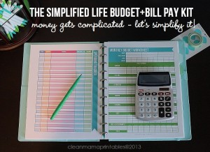 The Simplified Life Kit - Money gets complicated - let's simplify it! via Clean Mama
