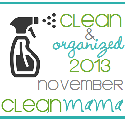 Clean + Organized 2013 – FREE November Cleaning Schedule