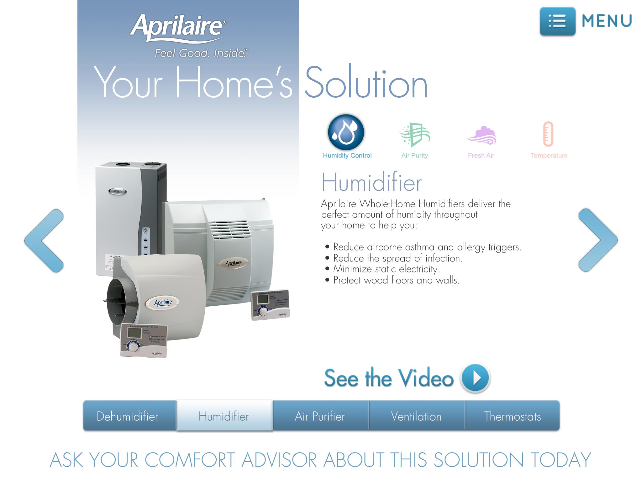 Aprilaire Comfort Advisor-Humidifier