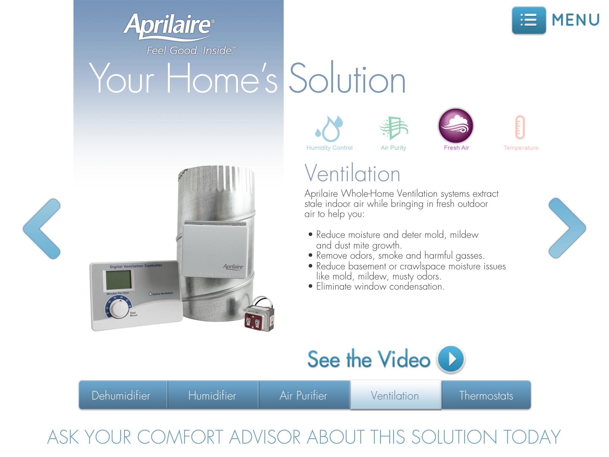 Aprilaire Comfort Advisor - Ventilation