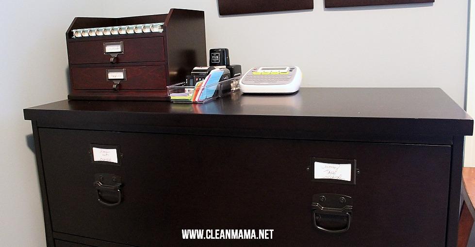 Close Up File Cabinet via Clean Mama