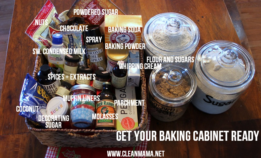 Get Your Baking Cabinet Ready via Clean Mama