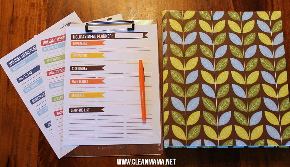 Holiday Menu Planners via Clean Mama2
