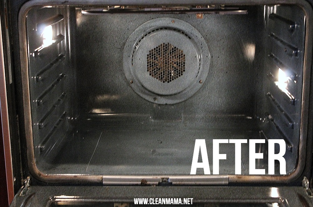 Oven After via Clean Mama