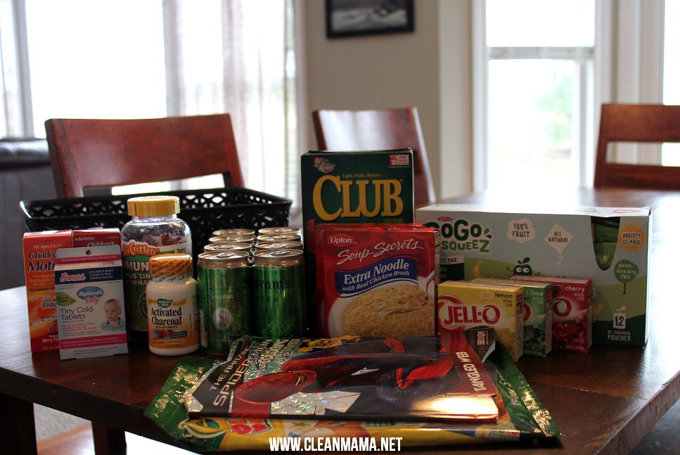 Put Together a Sick Kit via Clean Mama