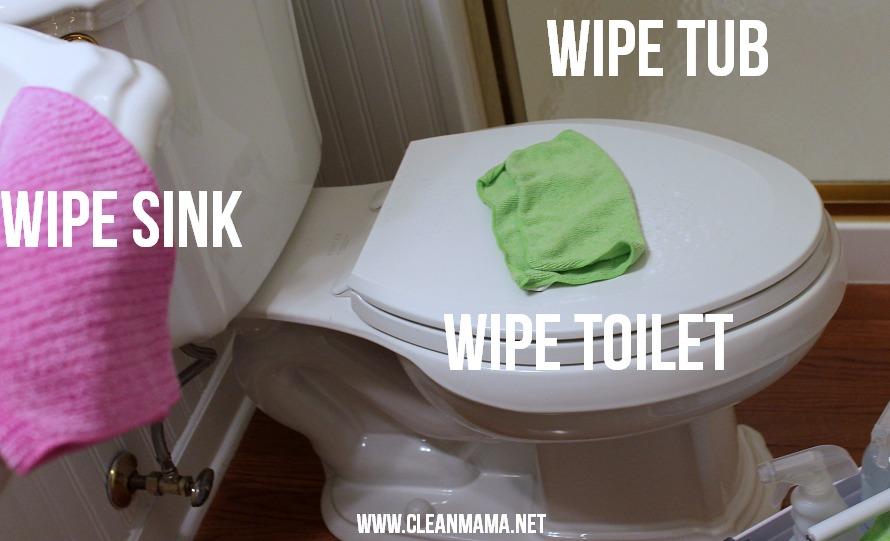 Step 5 Wipe via Clean Mama