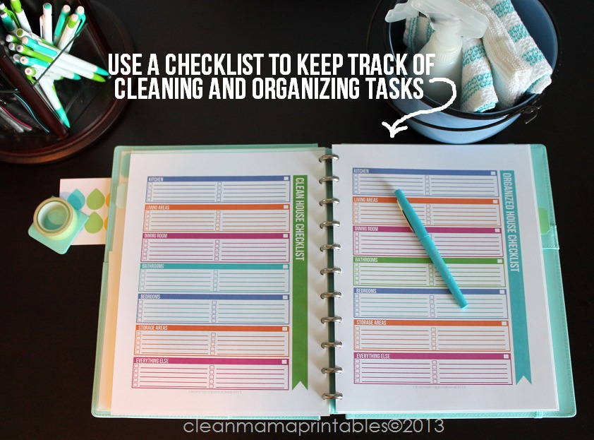 Use a Checklist to Keep Track of Cleaning and Organizing Tasks - The Simplified Life Cleaning Kit