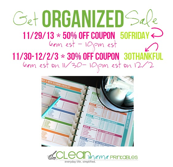 clean mama  black friday get organized sale