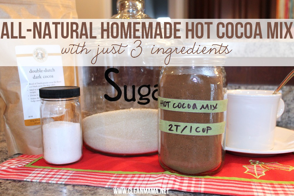 All-Natural Homemade Hot Cocoa Mix via Clean Mama