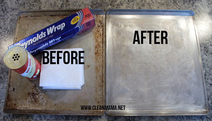 how to clean aluminum pans