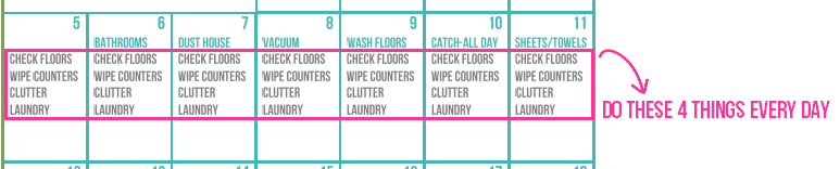 Do these 4 things every day via Clean Mama