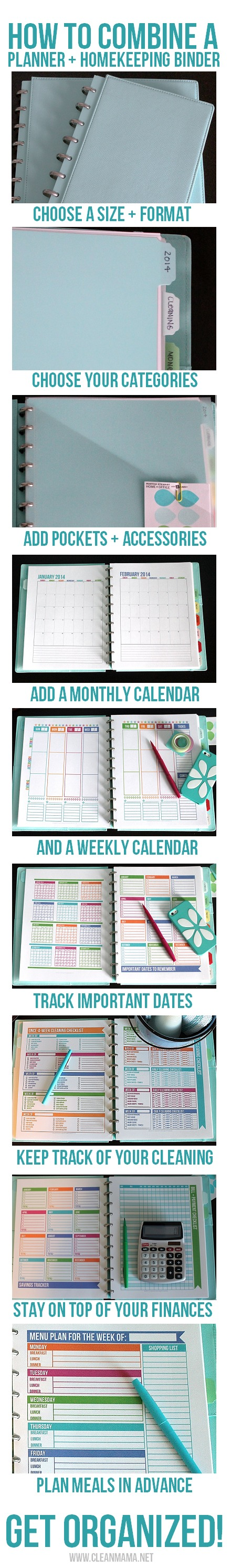 How to Combine a Planner + Homekeeping Binder via Clean Mama