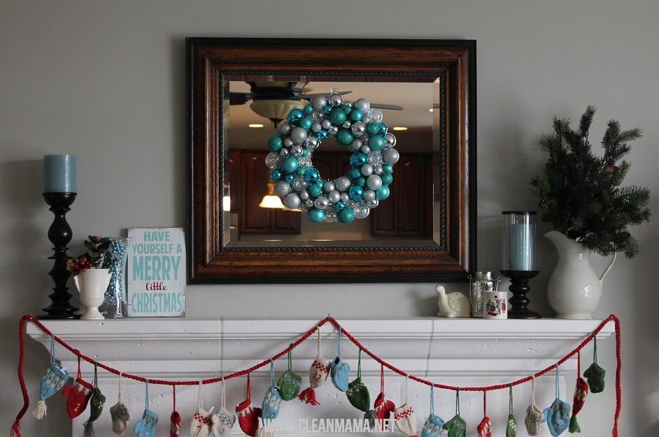 Simple Christmas Mantel via Clean Mama2