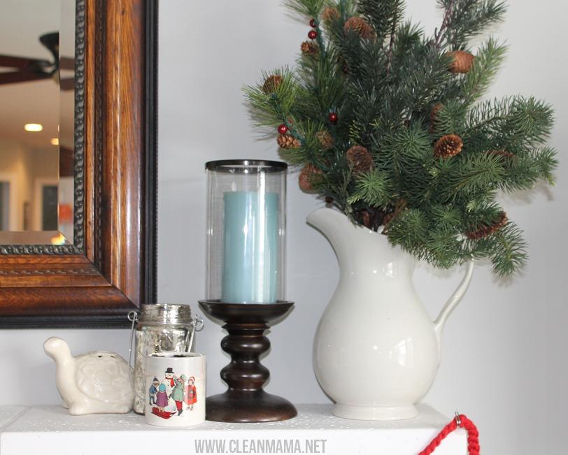 Simple Christmas Mantel via Clean Mama3