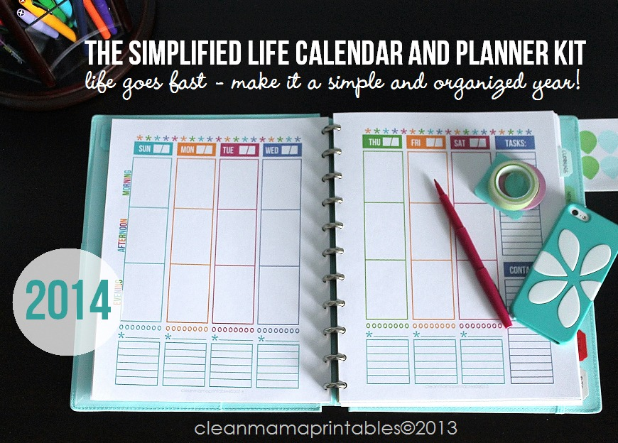 The Simplified LIfe Calendar + Planner Kit via Clean Mama Printables5