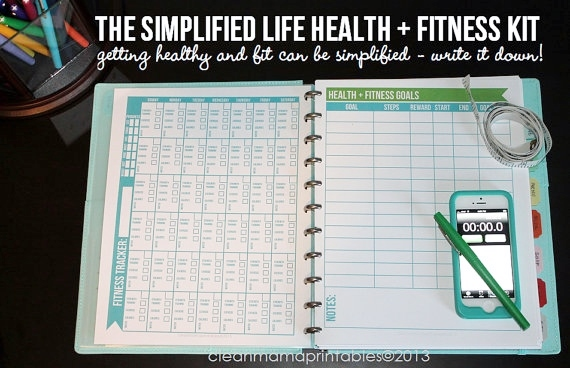 The Simplified Life Health+Fitness Kit via CLean Mama Printables