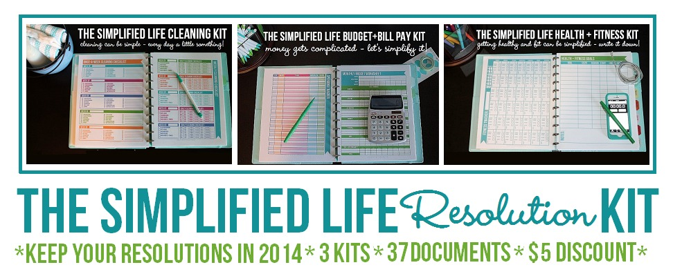 The Simplified Life Resolution Kit via Clean Mama Printables
