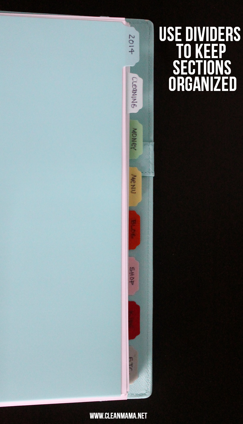 Use Dividers to Keep Sections Organized via Clean Mama