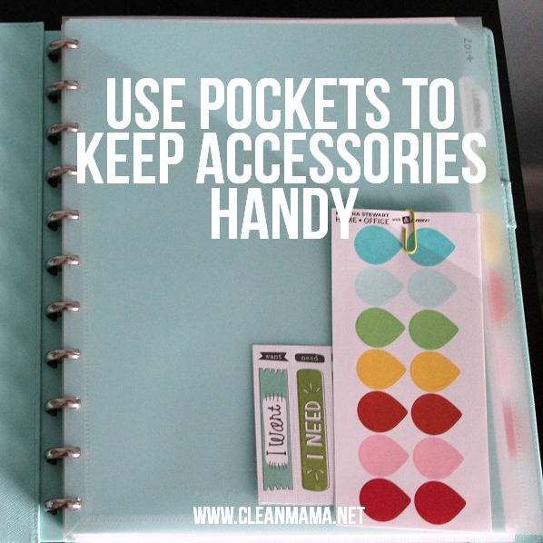 Use Pockets to Keep Accessories Handy via Clean Mama