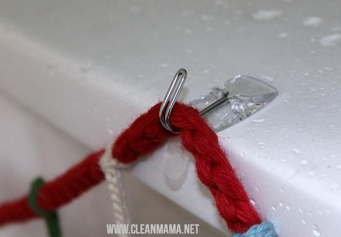 Use hooks2 - Simple Christmas Mantel via Clean Mama